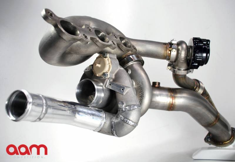 AAM Competition R35 GT-R GT1200-EFR Turbocharger System Upgrade   *1000-1100+awhp Capable Turbochargers w/ V Band Turbine Housing *Stainless Cast Manifolds *Stainless V Band Downpipes (Off Road Use Only) *Twin Water Cooled, V Band External W/Gs *Pre-Assembled and Fully Terminated Oil Lines *Pre-Assembled and Fully Terminated Water Lines & New Distribution Block