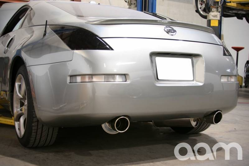 "AAM Competition 2.5"" True Dual System 350Z W/ Polished Tips"