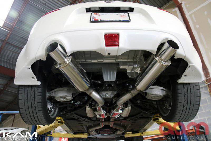 "AAM Competition 370Z 3"" True Dual Exhaust System 2"