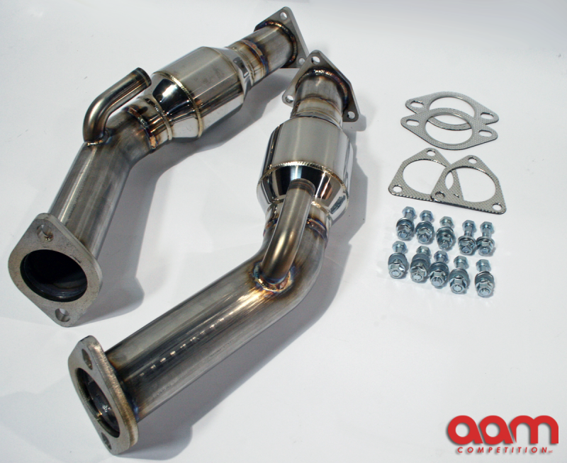 "AAM Competition 2.5"" Resonated Test Pipes (350Z / G35)"