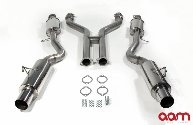 "AAM Competition 370Z 3"" True Dual Exhaust System"