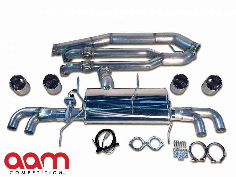 "AAM Competition R35 GT-R 102MM Premium Adjustable Exhaust W/ 5"" Polished Tips"