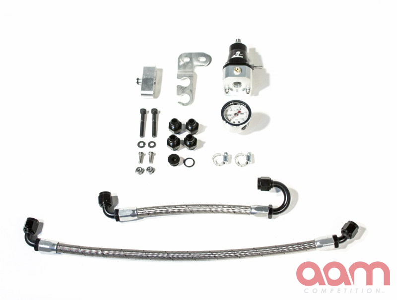 AAM Competition R35 GT-R S-Line Adjustable 1:1 Fuel Pressure Regulator Kit & Fuel Line Adapter Kit