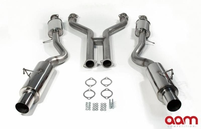 "[AAMC37E-TD3-T] AAM Competition 370Z 3"" True Dual Exhaust System w/ Titanium Tip"