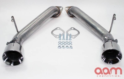 "[AAMC37E-TSS-G-SS] AAM Competition G37 Short Tail Exhaust with 4"" Polished Tips"