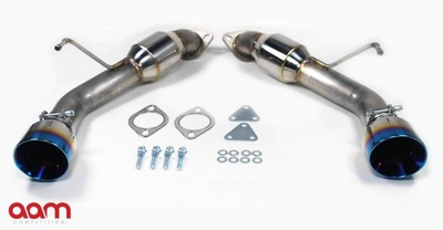 "[AAMC37E-TSS-RES-G-T] AAM Competition G37 Resonated Short Tail Exhaust with 4"" Titanium Burnt Tips"