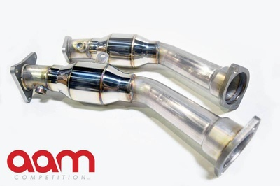 "AAM Competition Q50/Q60 3.0t 2.5"" Resonated Lower Downpipes"