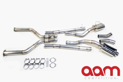 "AAM Competition Q50 & Q60 3.0t 3"" True Dual Exhaust System W/ 5"" Titanium Tips"